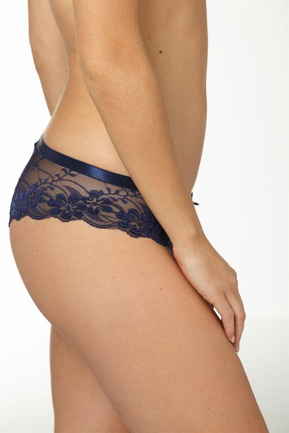 Lace Brasiliano Brief, MIDNIGHT BLUE