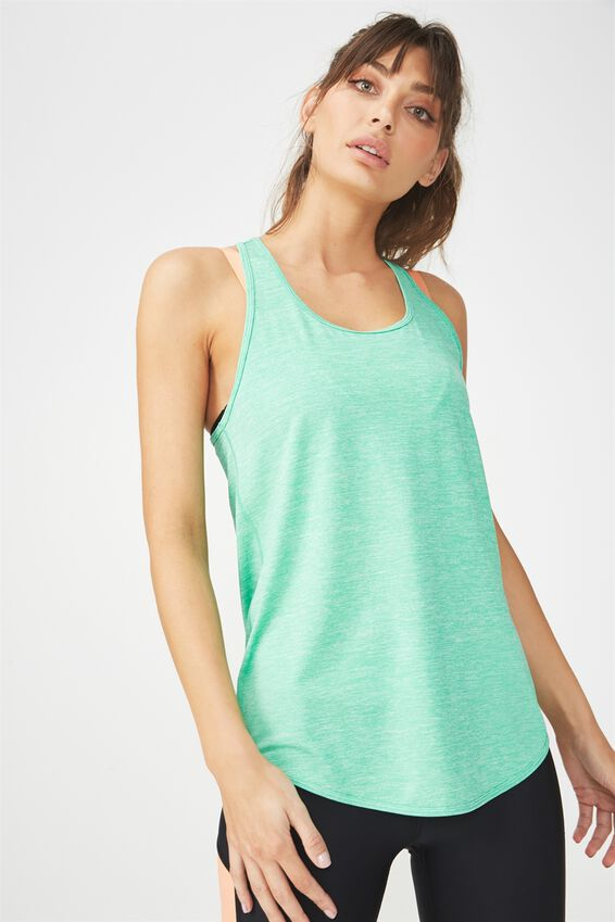 Training Tank Top, KELLY GREEN MARLE