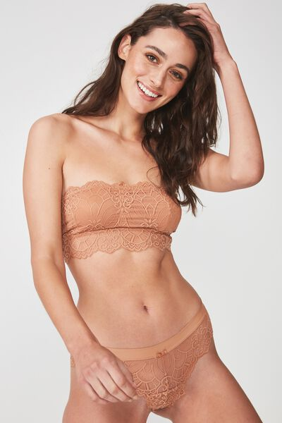 Candice Bandeau Bralette, MAPLE