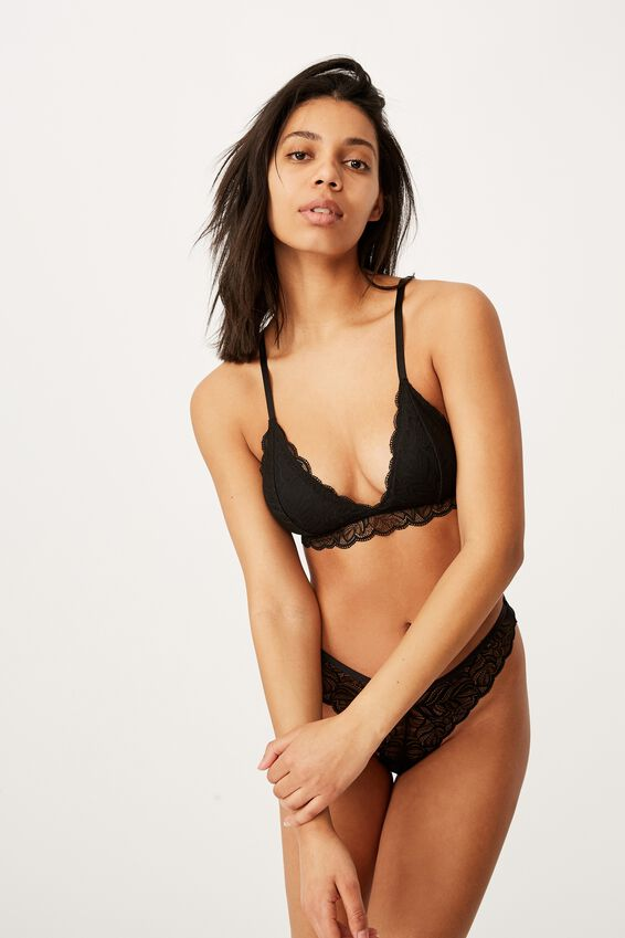 Summer Lace Bralette, BLACK