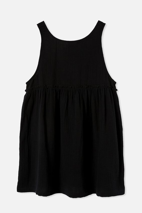Drop Armhole Beach Dress, BLACK