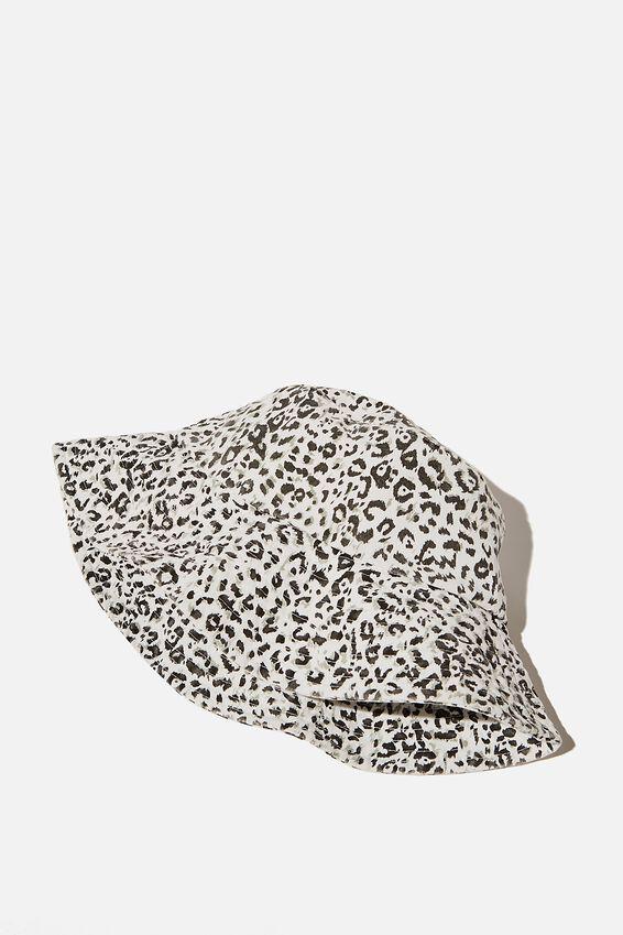 Bonnie Bucket Hat, MONO LEOPARD