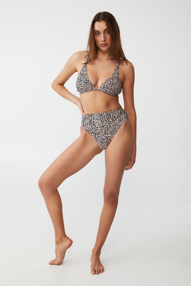 Renewed Highwaisted Hi Apex Triangle Bikini Set, WATERCOLOUR LEOPARD