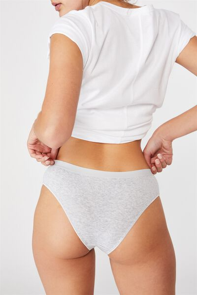 Cotton Brasiliano Brief, GREY MARLE RIB