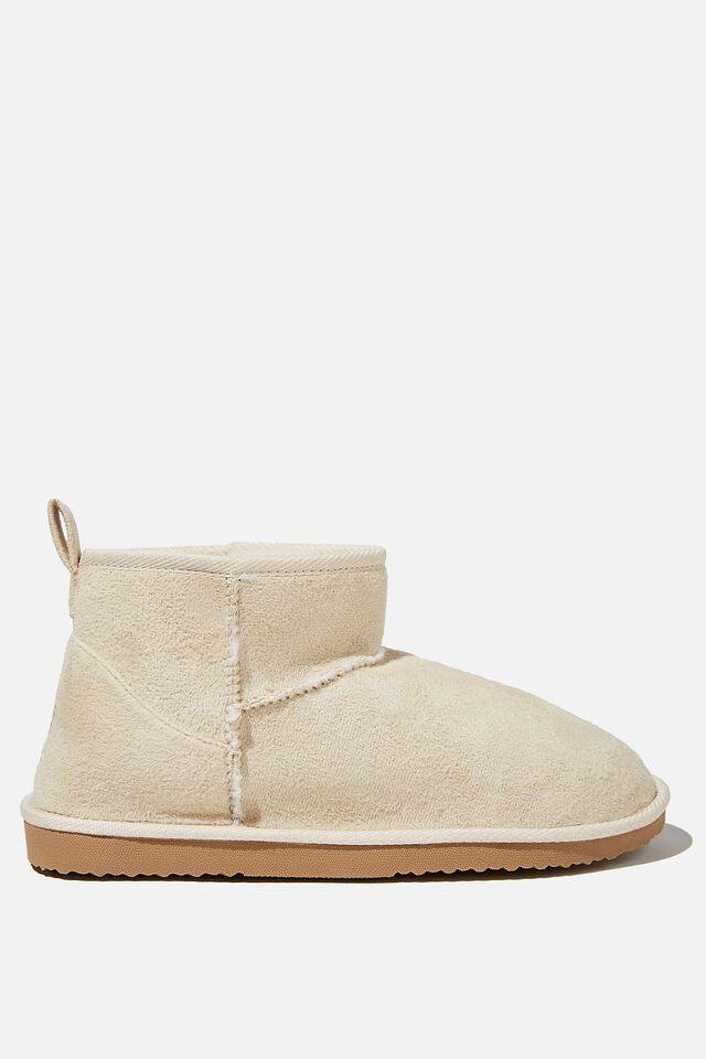 Body Super Cropped Home Boot, STONE