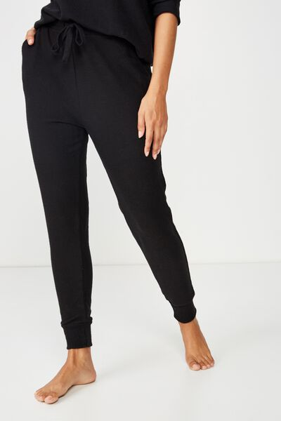 Supersoft Slim Fit Pant, BLACK