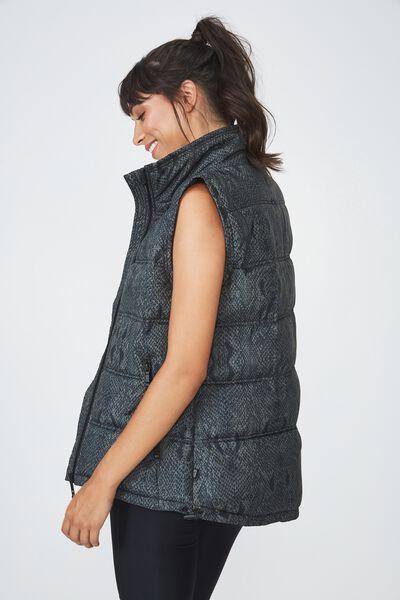 Puffer Vest, JUNGLE SNAKE
