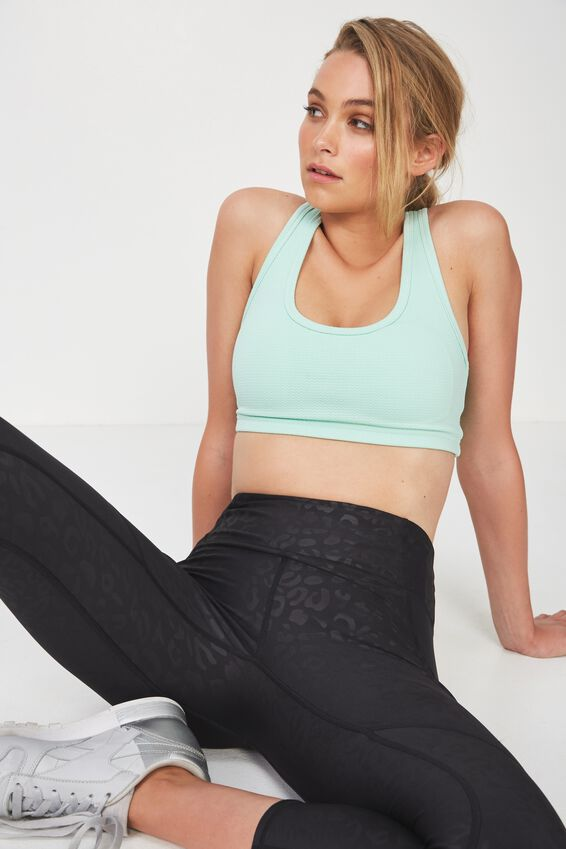Workout Cardio Crop, DUSTY AQUA