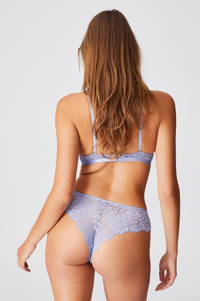 Ivy Lace Brasiliano Brief, PERIWINKLE