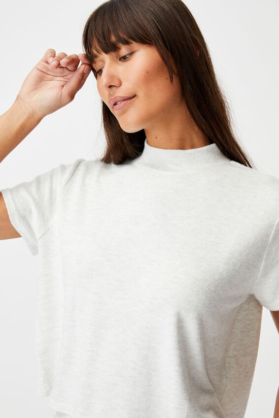 Super Soft Lounge T-Shirt, soft grey marle