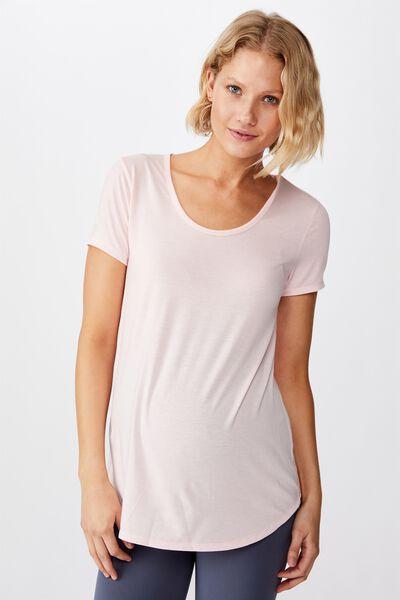 Maternity Gym T Shirt, SUMMER PEACHY