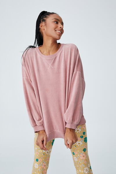 Luxe Bed Velour Pullover, ZEPHYR