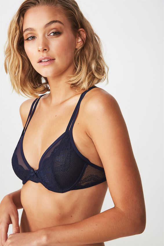 Cindy Underwire Bralette, MIDNIGHT