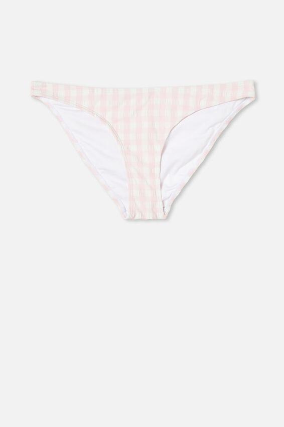 Full Bikini Bottom, PALE PINK GINGHAM