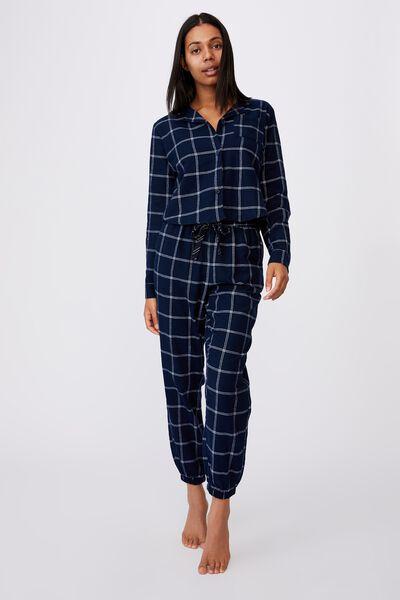 Flannel Sleep Shirt, OVERSIZED CHECK