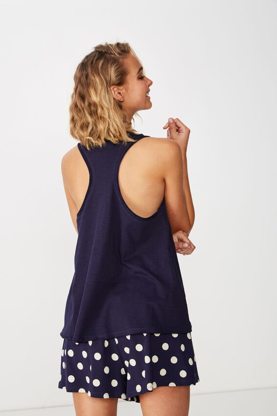 Jersey Racer Back, NAVY BABY