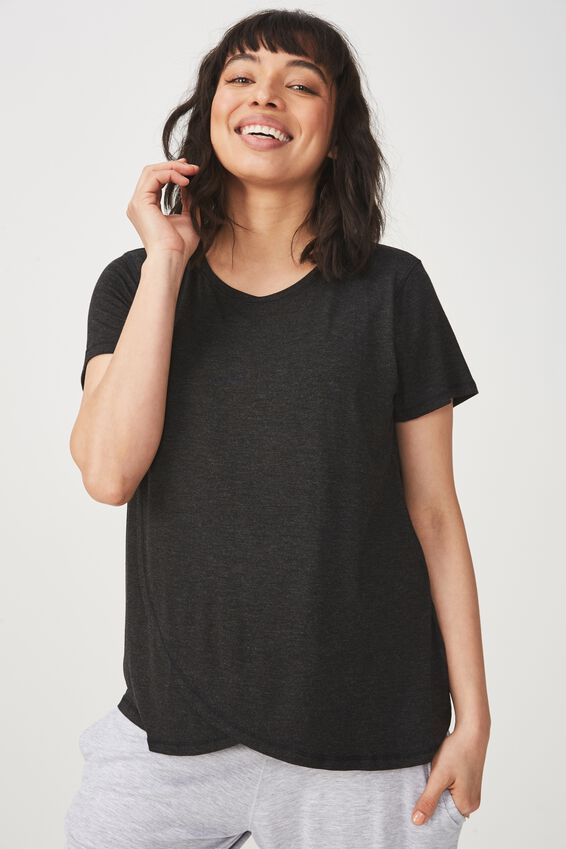 Sleep Recovery Maternity T Shirt, BLACK MARLE