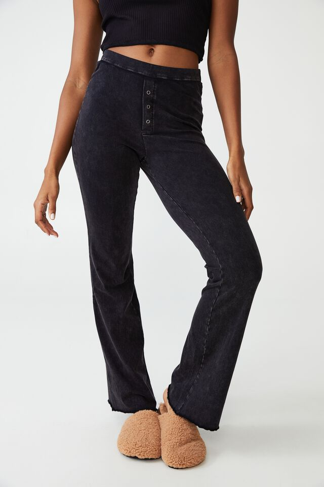 Jersey Bed Pant, WASHED BLACK