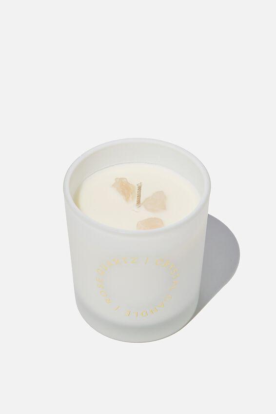 Crystal Candle, ROSE QUARTZ