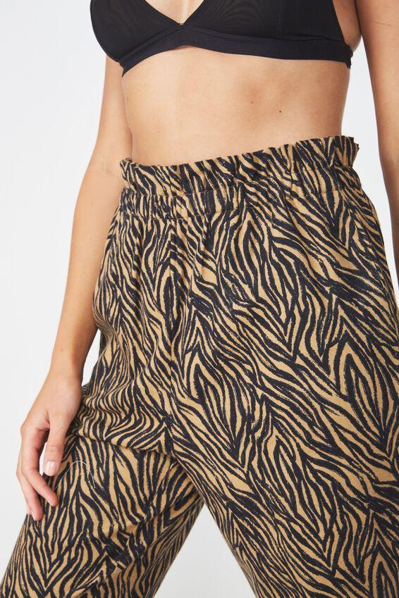 Flannel Paper Bag Pant, LINEY ZEBRA