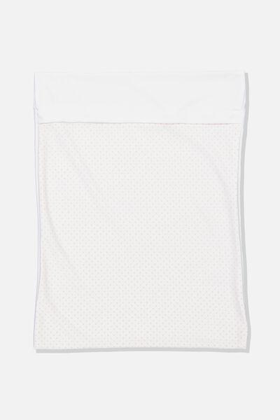 Delicates Wash Bag, WHITE/PINK SPOT