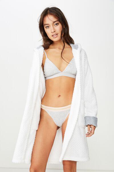 Luxe Plush Gown, WHITE TEXTURED
