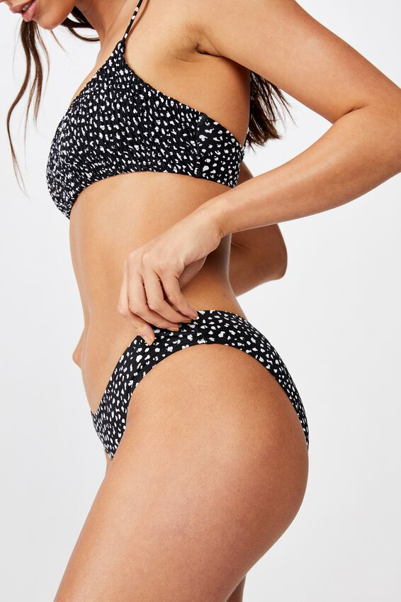 Classic Full Bikini Bottom, SPECKLE SPOT BLACK