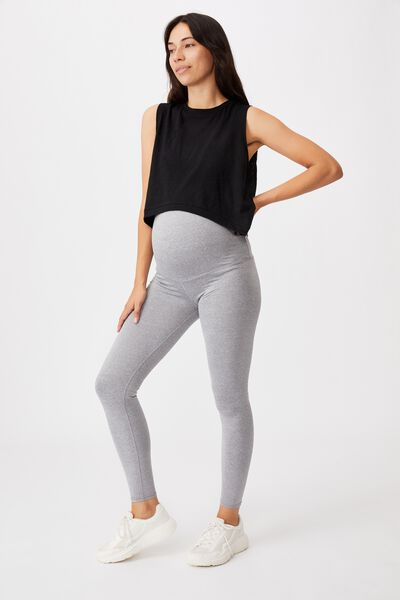 Maternity Tight Over Belly, MID  GREY MARLE