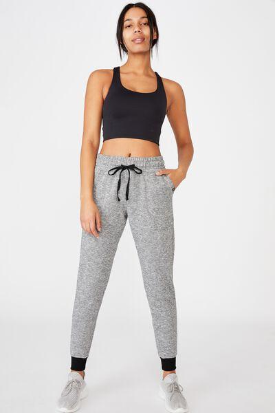 Gym Track Pants, BLACK VARSITY