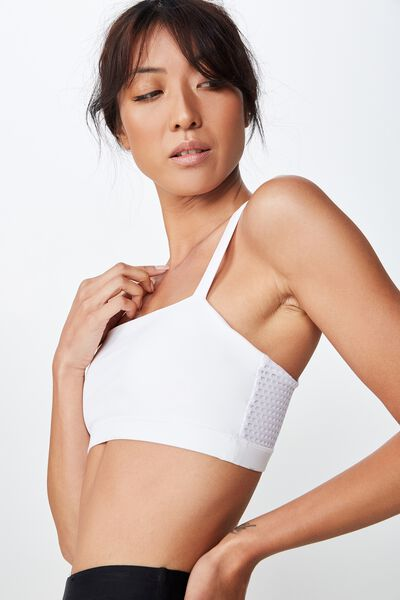 Mesh Sports Bandeau, SHIMMER WHITE