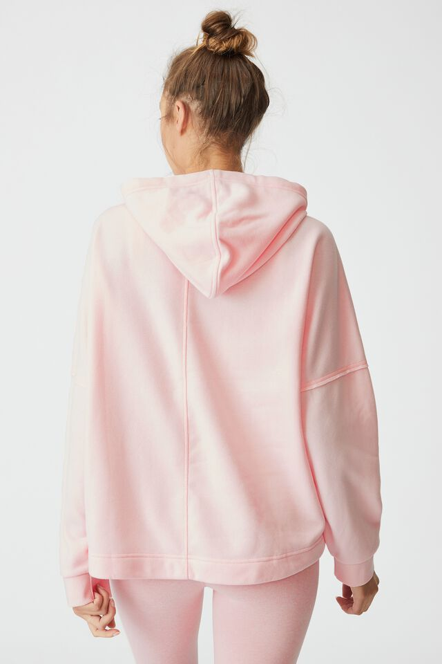 Lifestyle Relaxed Hoodie, PINK SHERBET MARLE