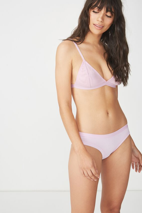 Cotton Bind Bikini Brief, PASTEL LILAC