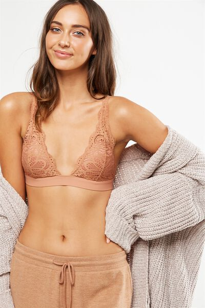 Phoebe Convertible Bralette, MAPLE