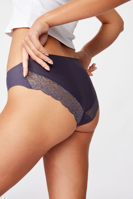 Party Pants Seamless Bikini Brief, GREYSTONE BLUE