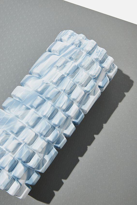 Foam Roller, BABY BLUE SWIRL