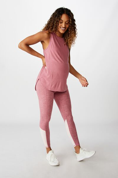 Maternity So Soft 7/8 Tight, WASHED ROSE MARLE SPLICE