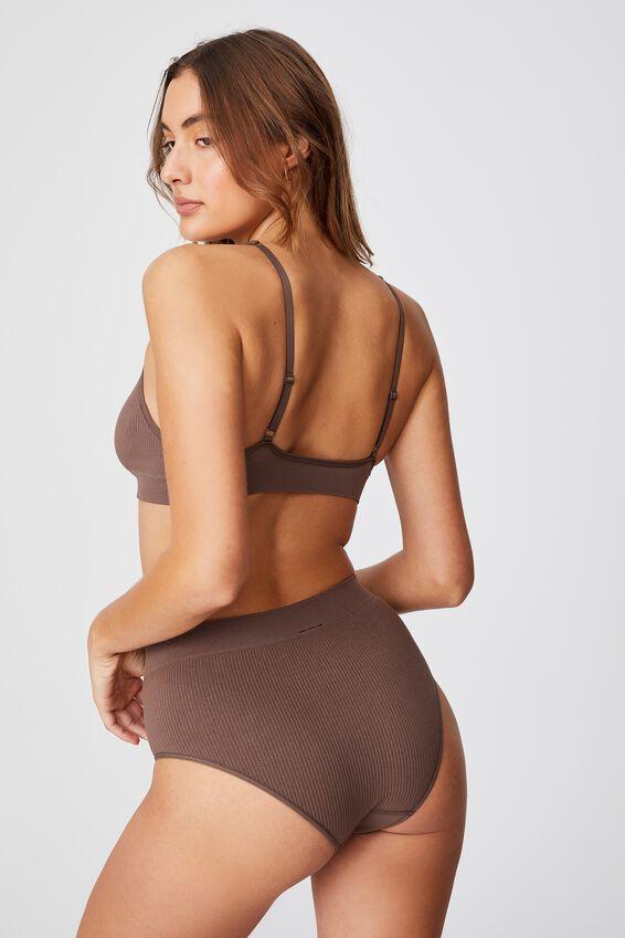 Seamfree Mumdie Bikini Brief, DEEP TAUPE