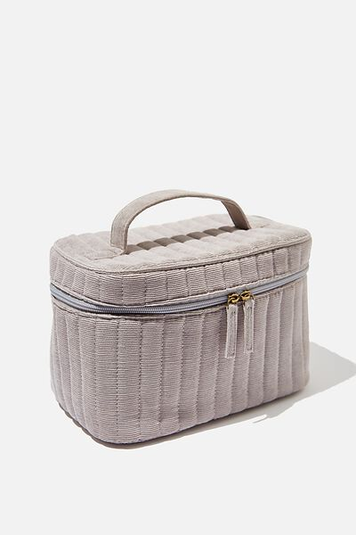 Large Structured Cosmetic Case, GREY CORD
