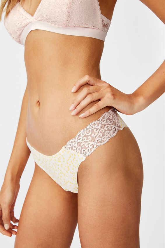 Party Pants Seamless Brasiliano Brief, TULIP DITSY