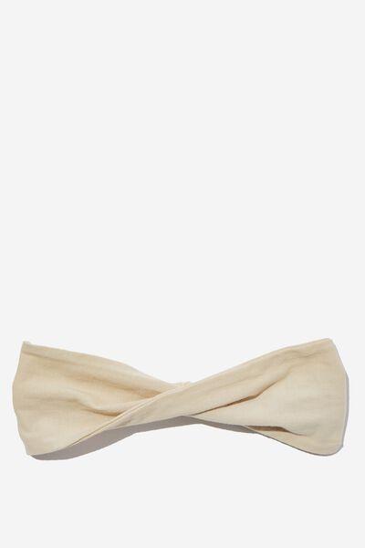 Organic Cotton Twist Headband, SANDSHELL