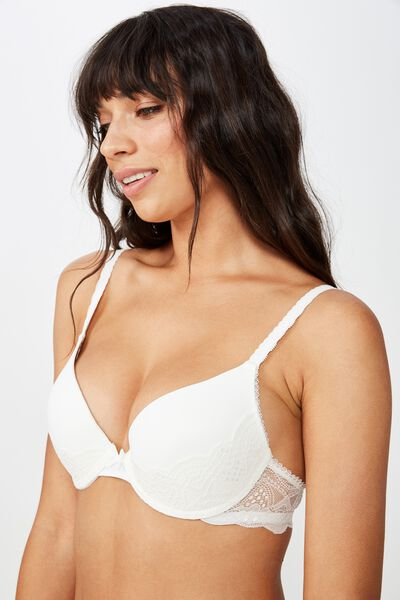 Cindy Lace Push Up Bra, CREAM