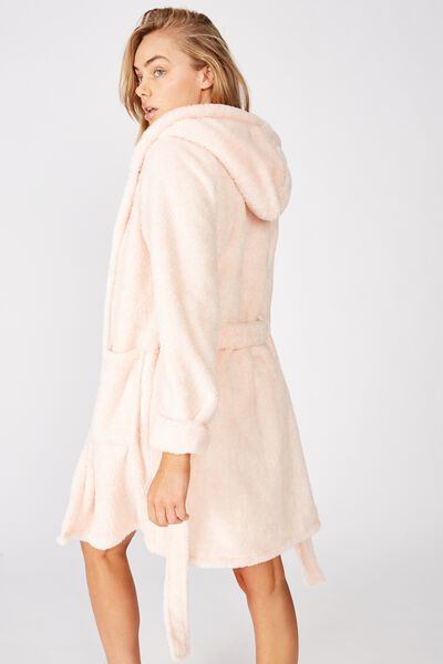 Luxury Plush Gown, CRYSTAL PINK MARLE