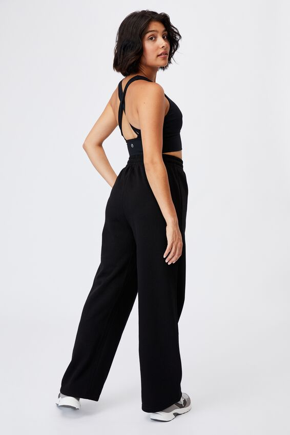Lifestyle Wide Leg Trackpant, BLACK