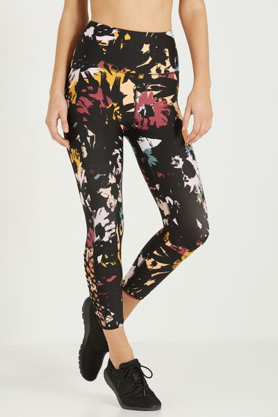 Loop Back Crop Tight, FLORAL POP