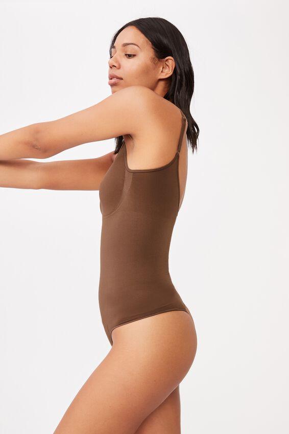 Go Figure Smooth Bodysuit, ESPRESSO