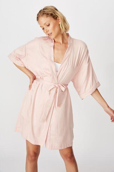 Textured Kimono, CORAL BLUSH