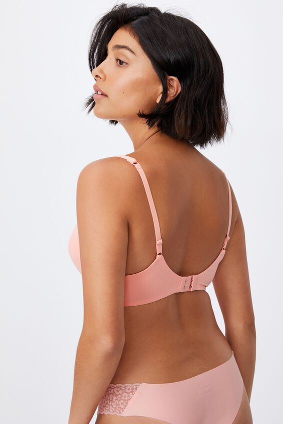 Wirefree Everyday T-Shirt Bra, ROSE QUARTZ