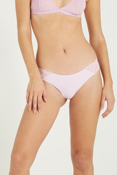 Party Pants Seamless Brasiliano Brief, COOL LILAC