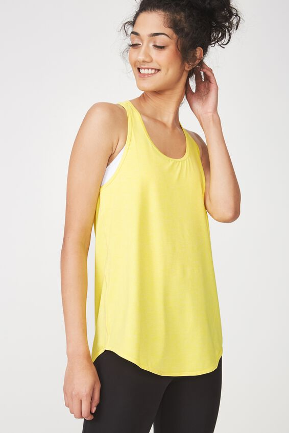 Training Tank Top, SUNFLOWER YELLOW MARLE