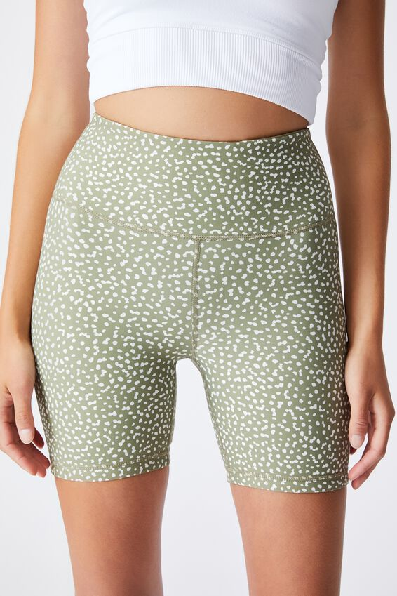Reversible Bike Short, DOT TO DOT OREGANO/OREGANO